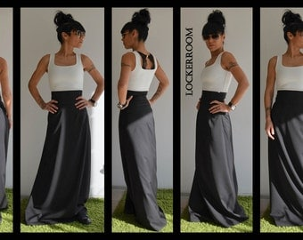 Maxi skirt, Black skirt, High Waisted skirt, Long Skirt, A Line skirt, Plus Size Maxi Skirt, Boho skirt, Wedding Black Skirt