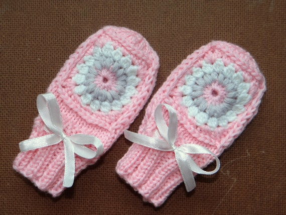 Knitting Patterns For Scratch Mittens : Knit baby mittens crochet baby mittens newborn mittens by Susuri