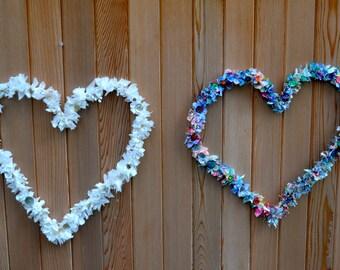 fabric heart wreath- home decor