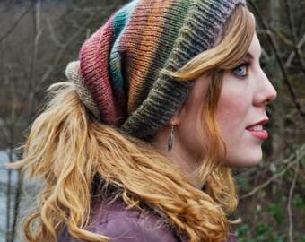 Kaleidoscope Shape-Shifter: Dread Hat Beanie Scarf