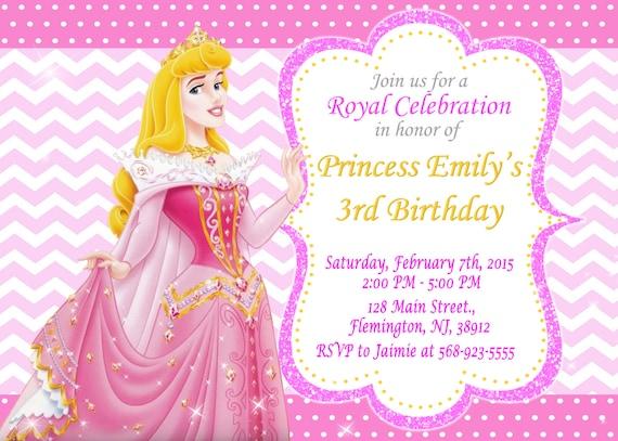 Sleeping Beauty principessa Aurora invito festa di ...