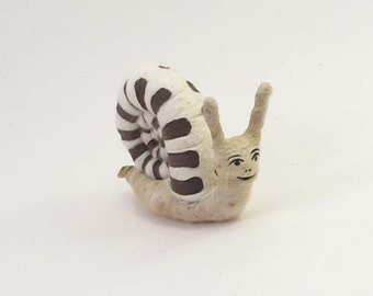 Spun Cotton Vintage Inspired Snail Ornament/Figure