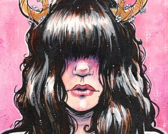 Beastly II - The Stag - DEER GIRL Poster Print 11x14