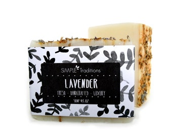 Soap Lavender | Cold Process | Artisan Soap | Handcrafted Soap | Essential Oils | Natural Vegan Soap | Soap Bar | All Natural | Vegan Soap
