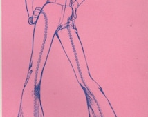 Stretch & Sew 715 1960s Misses Flatter Flared Pants Pattern Bell Bottoms Curved Seams Leggy Womens Vintage Sewing Pattern Hip 28 - 40 UNCUT