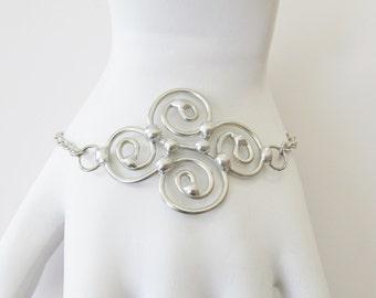 Wire Work Bracelet Celtic Inspired Wire Work Jewelry Women's Bracelets