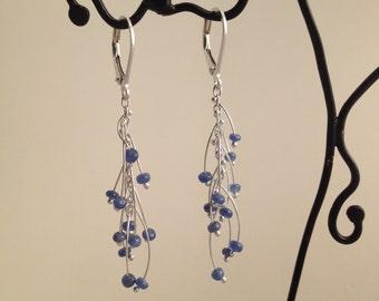 Sapphire Waterfall Earrings
