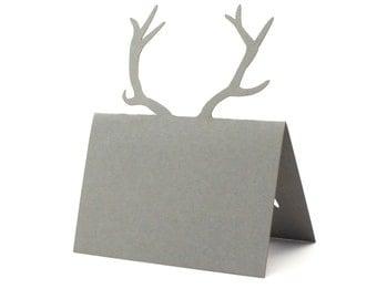 Antler Place Cards set of 10 - Wedding Place Cards, Antler,Table Numbers,Deer, Elk,Woodland,Baby Shower, Rustic Wedding,Bridal Shower,Forest