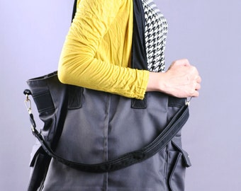 Sale20%OFF-Grey Canvas Tote/Shoulder/Messenger/Bags/School/Shopping/Working/Handbags/Laptop/Casual/Diaper/For Her/For Him/men/women-071