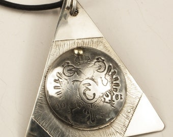 Devil's Triangle Sterling Silver - Nautical Talisman for Good Luck - Sailor's Nautical Charm - Mariner's Pendant - Devil's Triangle Pendant