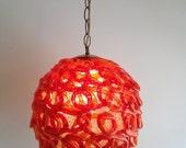 Brilliant Orange1960s Lucite Swag Light