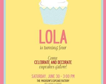 Cupcake Birthday Invitation Suite