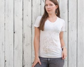 Sleep is for the Birds - Whimsical Hand Silk Screened Ladies American Apparel Triblend Graphic Tee