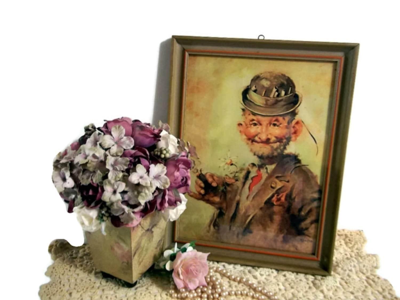 Vintage Framed Hobo Print Signed Kroger Framed By