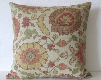 Bohemian yellow orange red decorative pillow cover
