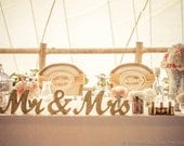 Metallic Vintage Gold or Custom Mr and Mrs Sign Wedding Sweetheart Table Decor Mr & Mrs Wooden Letter Standing Wedding Sign (Item - MTS100)