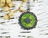Grassy Pendant Light Green Pendant Wool Silk Pendant Christmas Gift