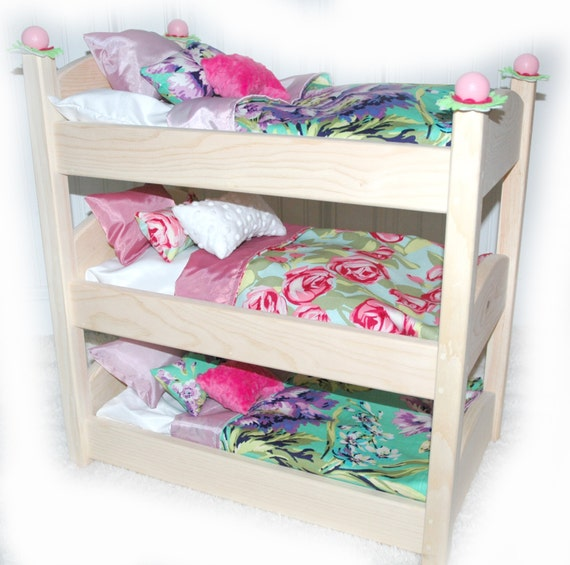 Bunk Bed Dolls: Triple Doll Bunk Bed Lilac Garden American Made By