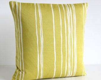 Pillow Cover, Cushion Cover, Pillow Sham, 16 Inch Toss Pillow, 16x16 Pillow Cover, Scatter Cushion, Pillow Case, Throw Pillow - Lines Golden