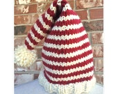Christmas Hat Knitting Pattern DIY Christmas Knitting - Knits for Kids Quick Knit - Chunky Hat - Craft Party WWKIP Day