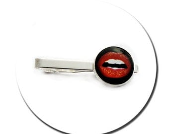 Tie Clip Kiss Me Red Lips Glamour Pop Art
