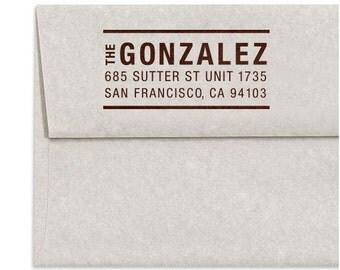 Custom Address Stamp, Self Ink Return Address Stamp, Self Inking Personalized Stamps, House Address Stamp, Wood Mounted Address Stamp, Gifts