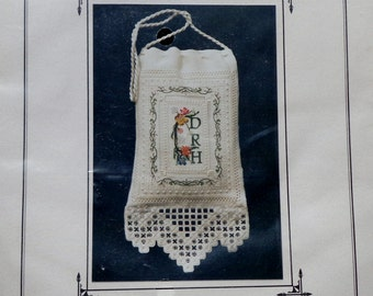 Rare Rae Iverson Moss Creek Designs VICTORIAN SAMPLER BAG Kit Needle Necessary - Counted Cross Stitch Pattern Chart Kit