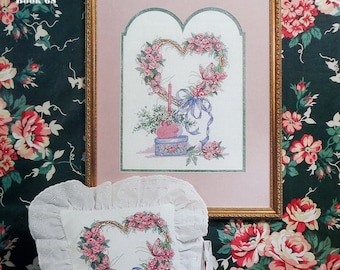 Frankie Buckley Artwork HEART OF ROSES By Country Cross Stitch - Counted Cross Stitch Pattern Chart