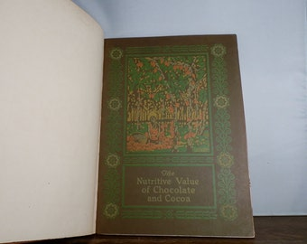 Collectible Book The Nutritive Value of Chocolate and Cocoa Hershey Chocolate Company 1925 Very rare Historical booklet DanPickedMinerals