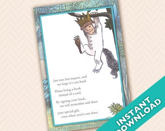 where the wild things are baby shower invitation thank you