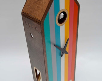 Color-House in Walnut Modern Cuckoo clock