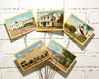 Vintage Monterey, California Colortone Postcards - Divided Back on Linen - Set of 5