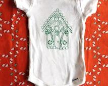 Gingerbread House Baby Onesie
