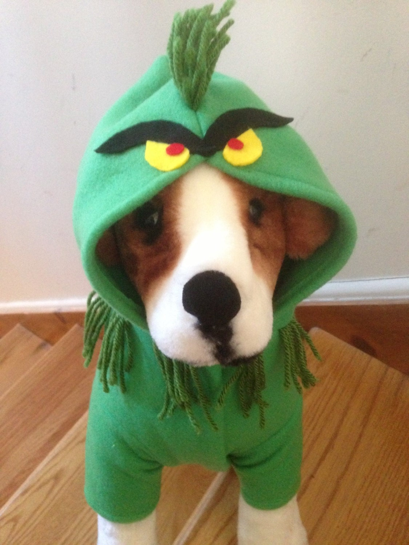 Grinch costume by fiercepetfashion by fiercepetfashion on etsy