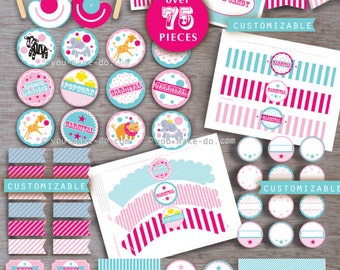 carnival party, carnival birthday, carnival baby shower, pink carnival, carnival party printables, carnival, circus birthday, circus party