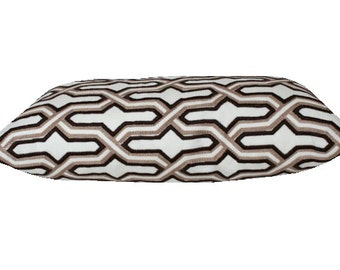 China Seas Gorrivan Fretwork Pillow Cover in Brown and Taupe on Both Sides