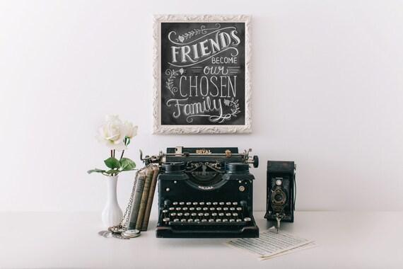 Gift for Best Friend - Best Friend Birthday Gift - Best Friend - Friendship Print - Friendship Gift - Friend Quote  - Chalk Art