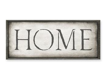 Home Sign, Home Decor, Rustic Shelf Art, Wood Frame Sign