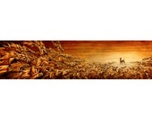 """Archival Giclee Woodburning Print; """"I Am (Surrender)"""" (20"""" x 4.25"""")"""