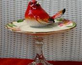 Desert Rose Pedestal, Stand, Serving Stand, Jewelry Holder, Soap Dish, Bird Feeder, Pedestal Totem