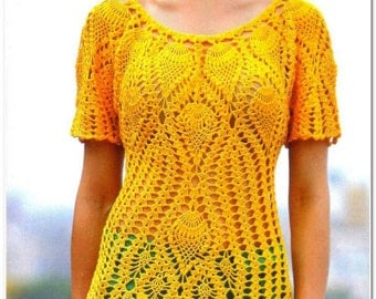 Crochet Dress Crochet Tunic Crochet Top  Crochet Pullover  To Order FREE SHIPPING