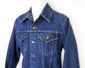 Vintage Sears Roebucks Western Wear Denim Jacket Sz.M 1970's