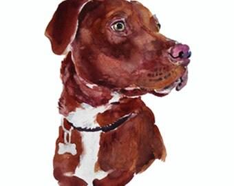 Custom Pet Portrait -  Custom Portraits - Original Art - 11x14inches  - Watercolor Painting - Art - Dogs