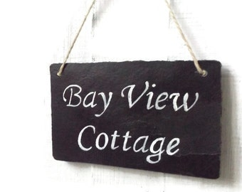 Personalised Slate Sign - Slate Sign - Personalised Sign - Slate decor - House Sign - Office Sign - Address Sign - Personalised Gift