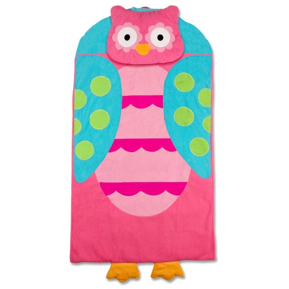 Personalized Owl Nap Mat Or Sleeping Bag For Toddler Girls