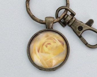 Yellow Rose Key Chain Bag Charm KC92