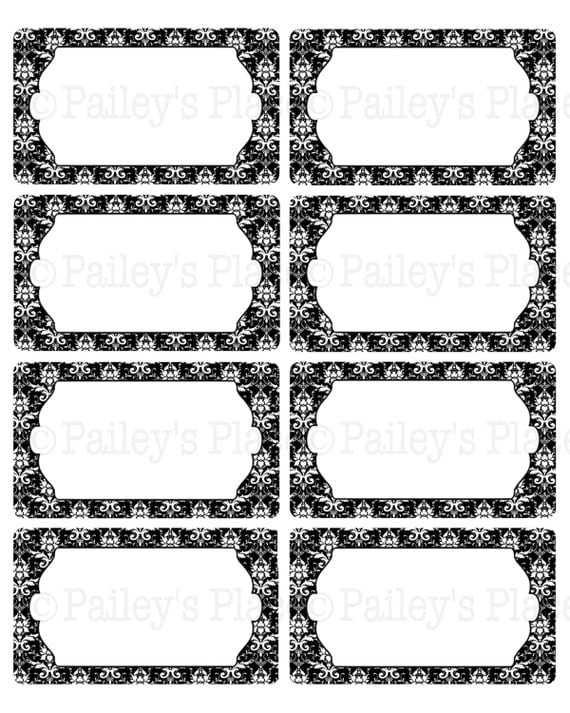 Printable black labels pictures to pin on pinterest pinsdaddy