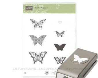 Stampin UP Elegant butterfly punch and Papillon Potpourri Stamp set