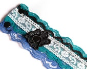 Lace Bracelet - VINTAGE TURQUOISE - Urban everyday lace bracelet - Available in XS, S, M