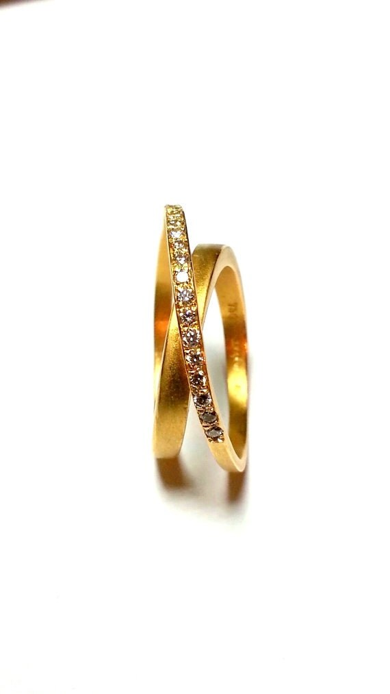 unique half eternity band gold ring by